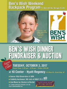 Ben's Wish Dinner Fundraise & Auction - Tuesday, October 3, 2017