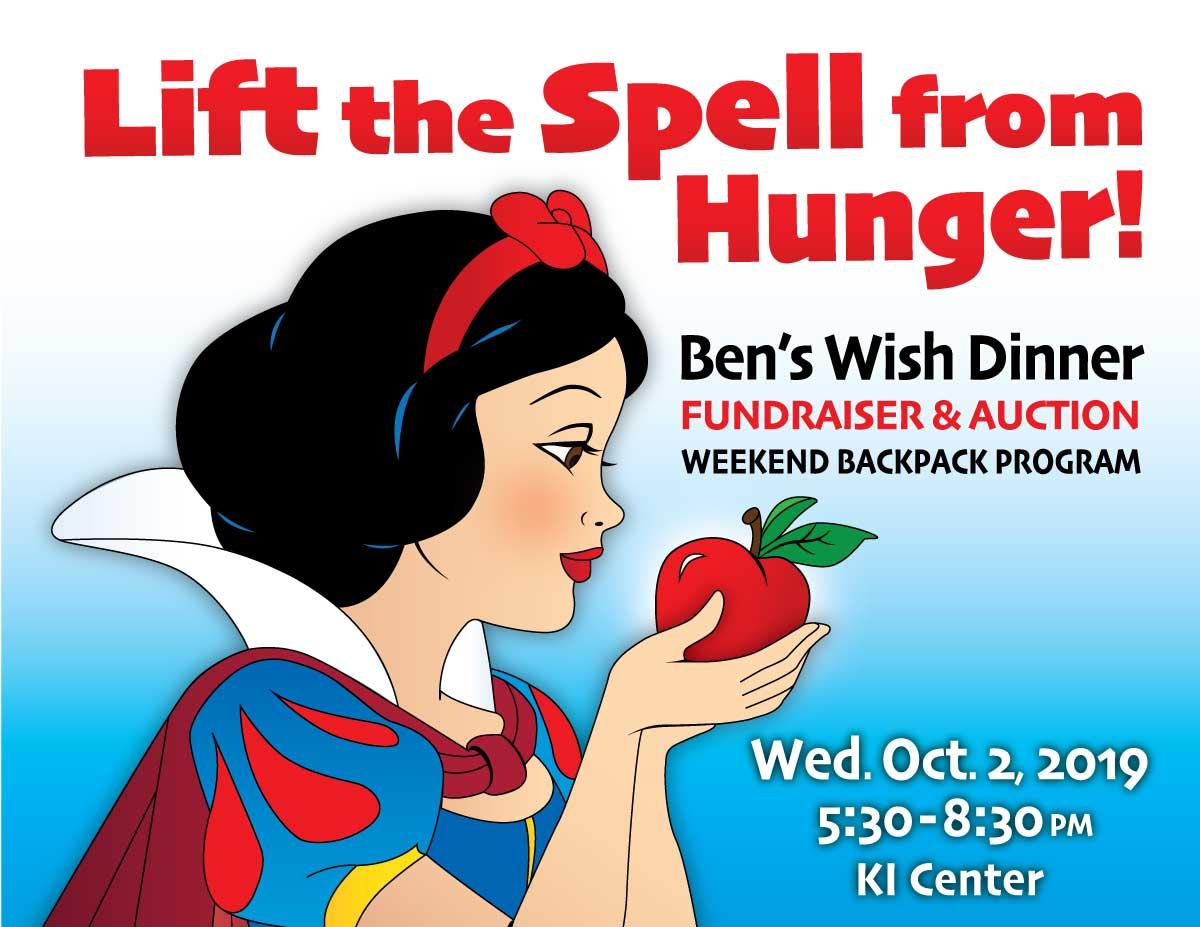 Lift the Spell from Hunger – Ben's Wish Dinner 2019